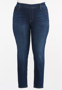 Plus Size Dark Wash Jeggings