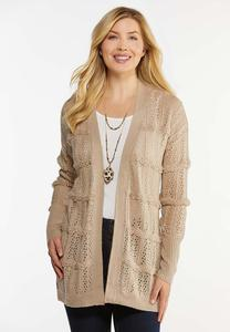 Plus Size Latte Cardigan Sweater