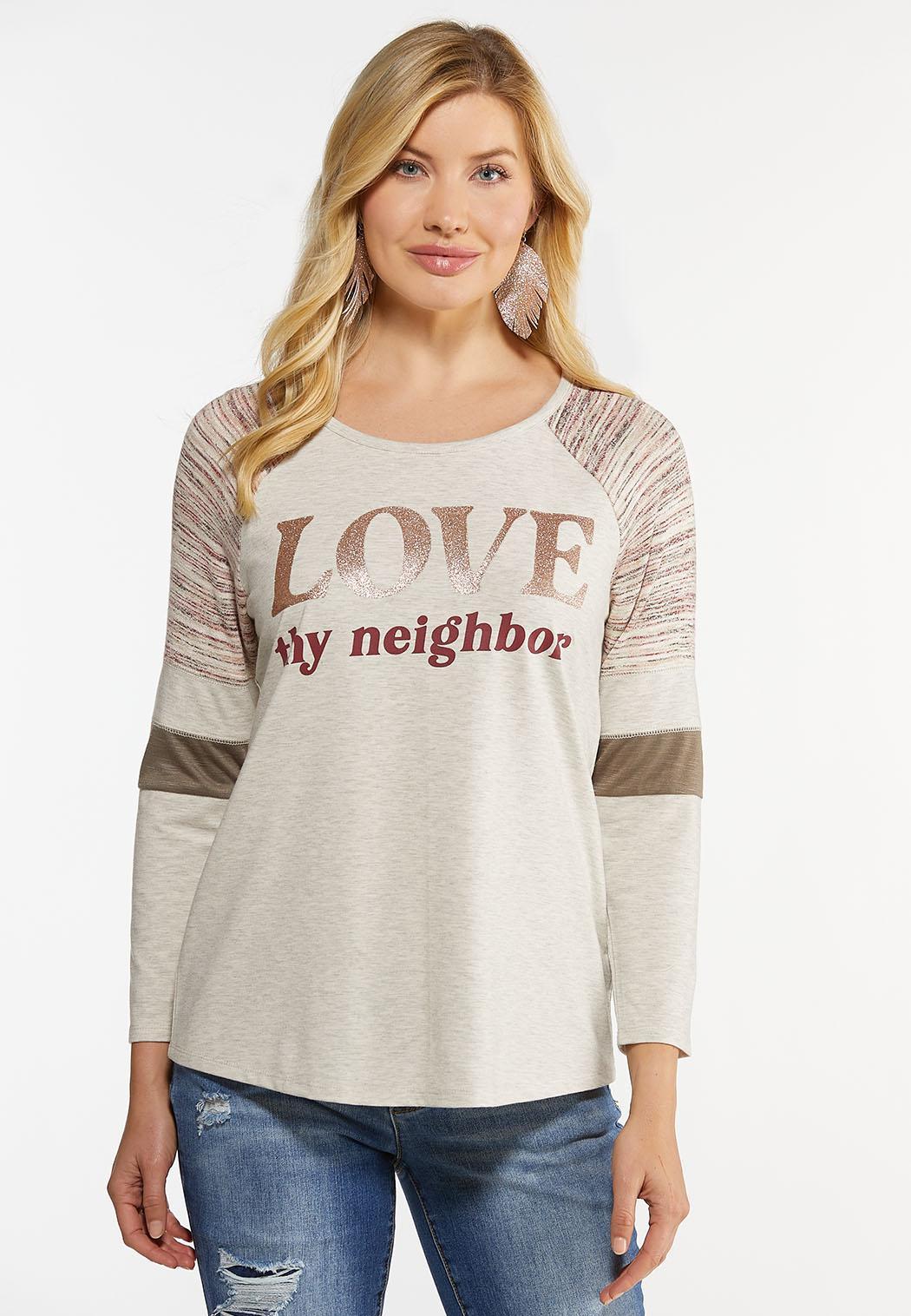 Plus Size Cozy Love Thy Neighbor Top