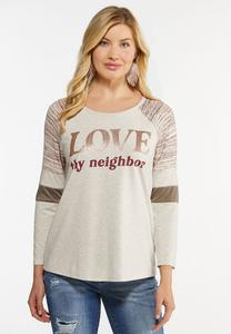 Plus Size Cozy Love Thy Neighbor Top