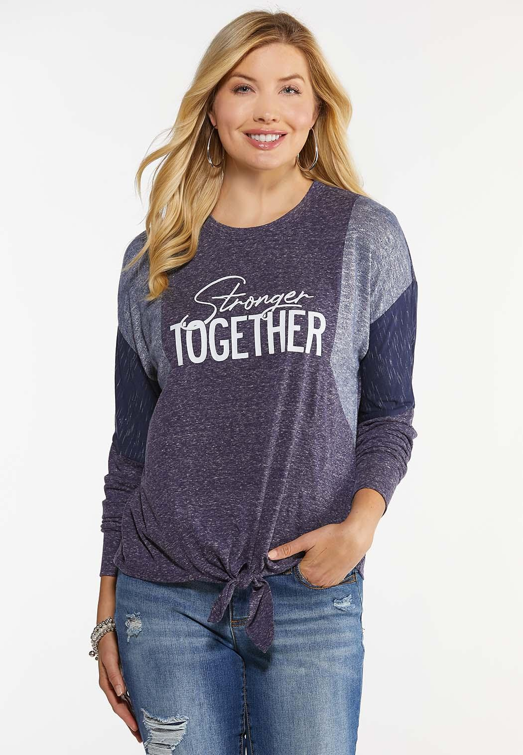 Stronger Together Knotted Top
