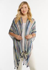 Stripe Tasseled Kimono