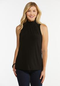 Plus Size Black Mock Neck Top