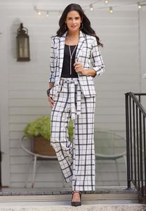 Plaid Paperbag Trouser Pants