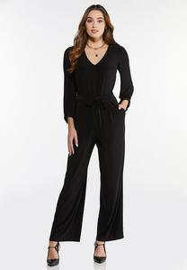 Plus Size Belted Waist Jumpsuit