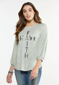 Plus Size Have Faith Hacci Top