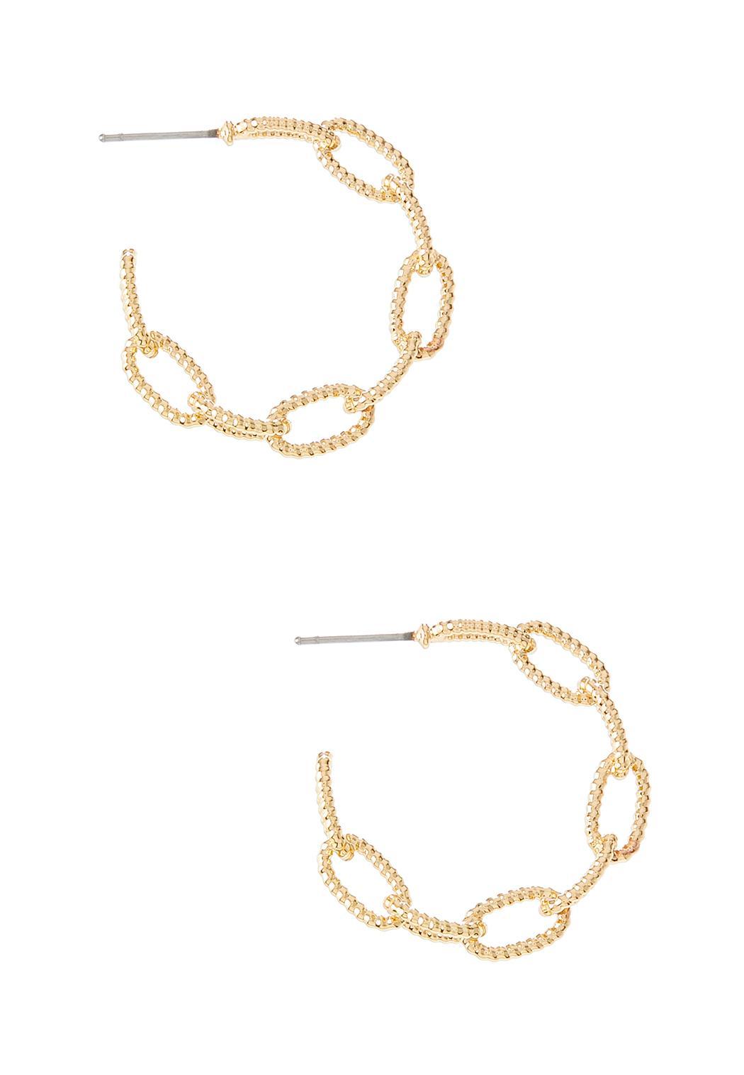 Chain Gold Hoop Earrings