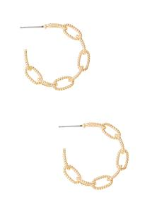 Chain Gold Hoop Earrings