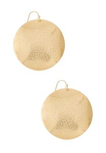 Textured Gold Circle Earrings