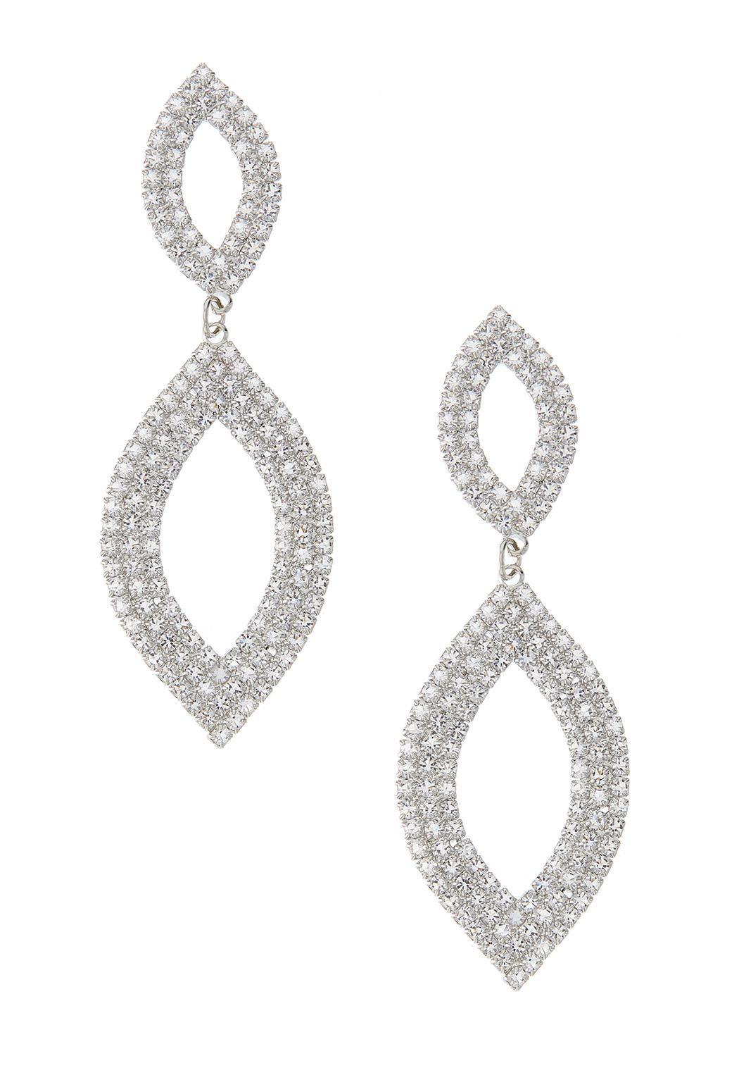 Cubic Zirconia Double Loop Earrings