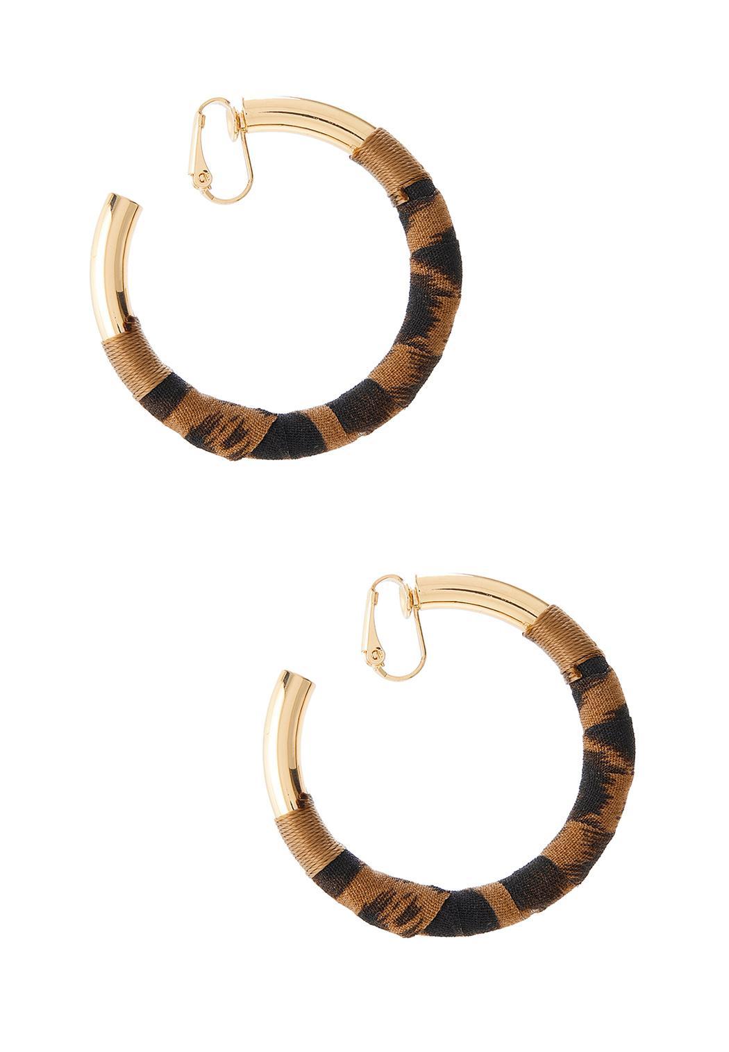 Animal Print Hoop Clip-On Earrings