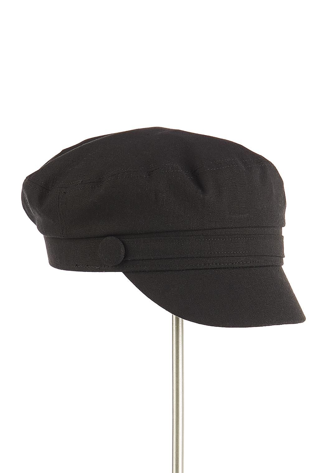 Solid Linen Cabbie Hat