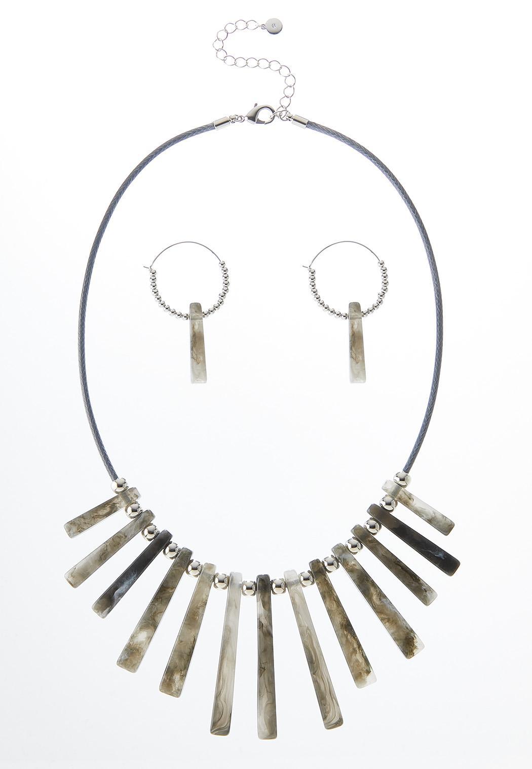 Resin Stick Necklace Set