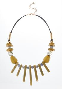 Lucite Bib Necklace