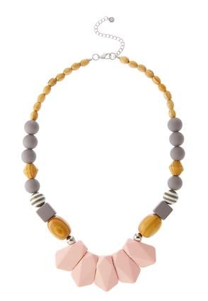 Mixed Bead Bib Necklace