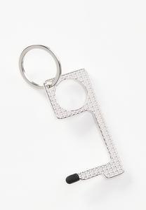 Etched Star Door Opener Key Chain