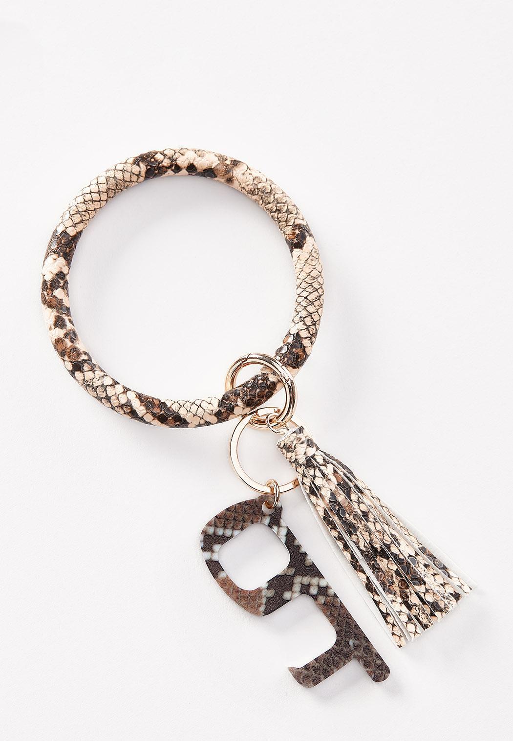 Snakeskin Door Opener Key Ring