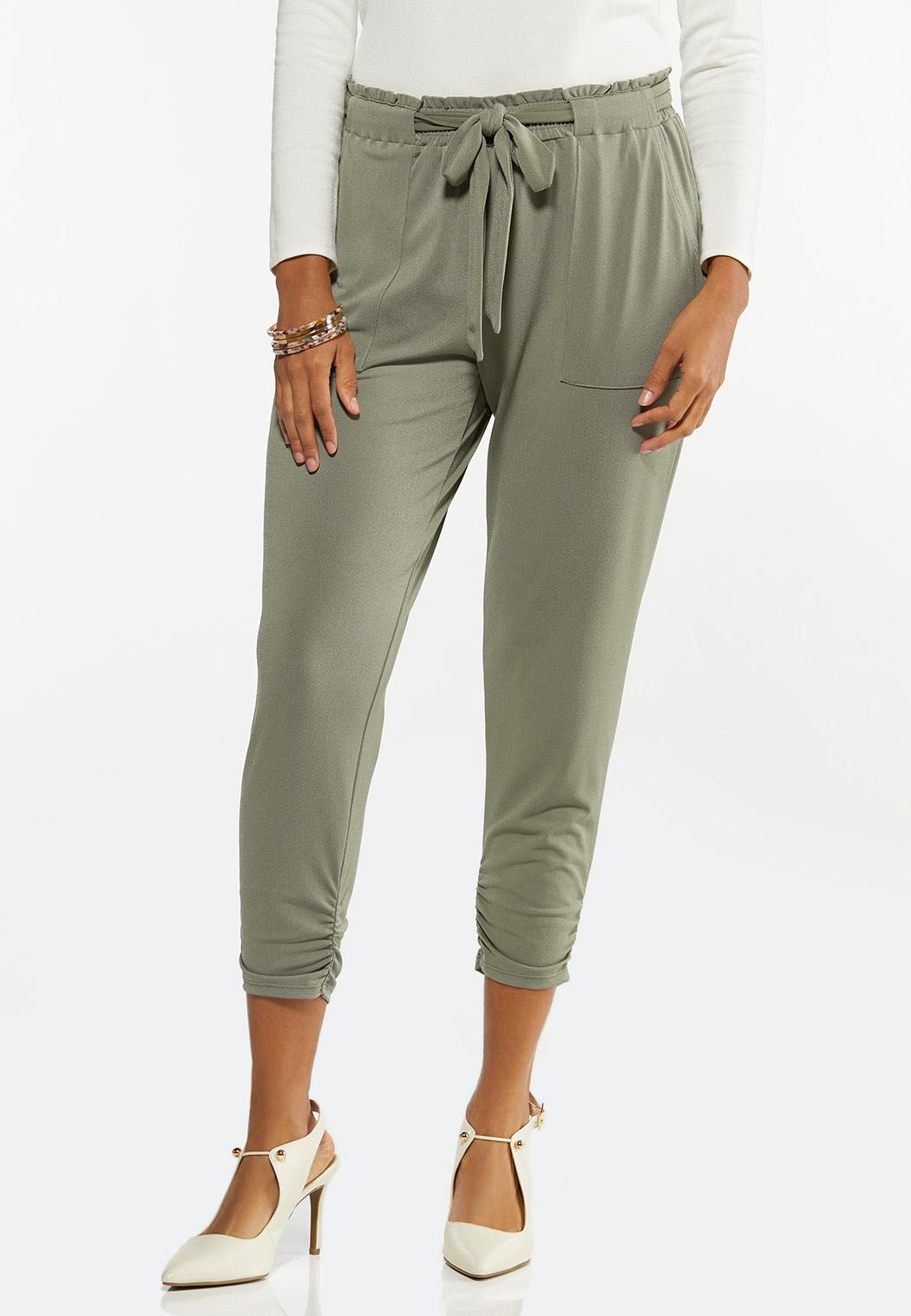 Belted Utility Joggers