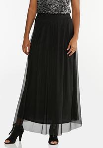 Mesh Maxi Skirt