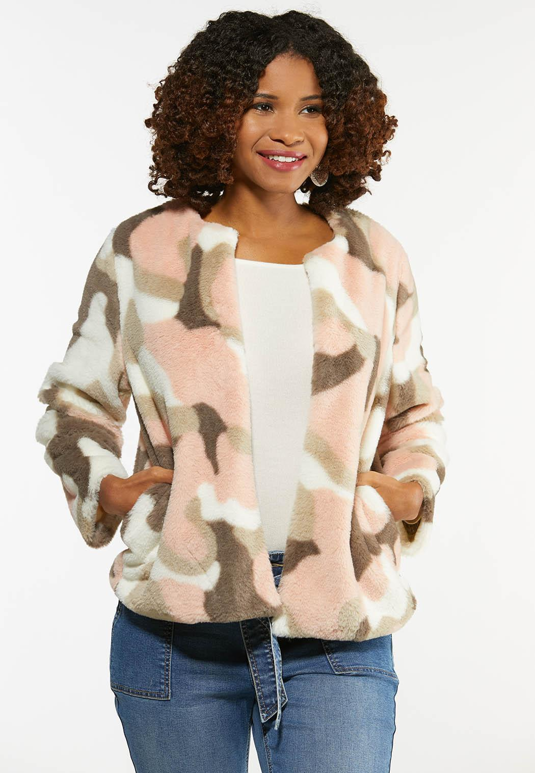 Blushing Leopard Faux Fur Jacket