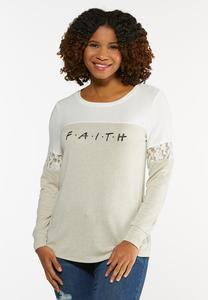 Plus Size Faith Lace Sleeve Top
