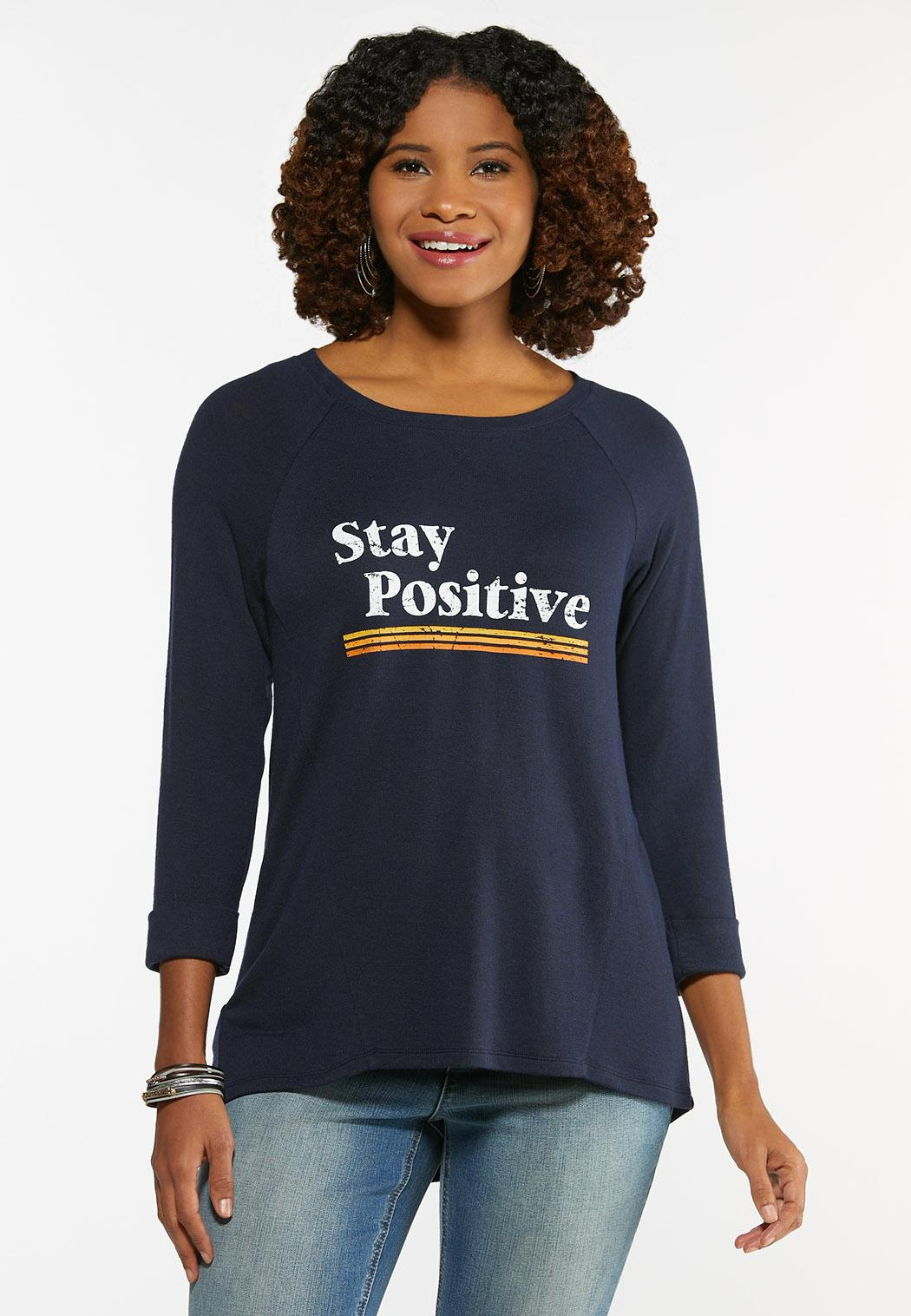Plus Size Stay Positive Tee