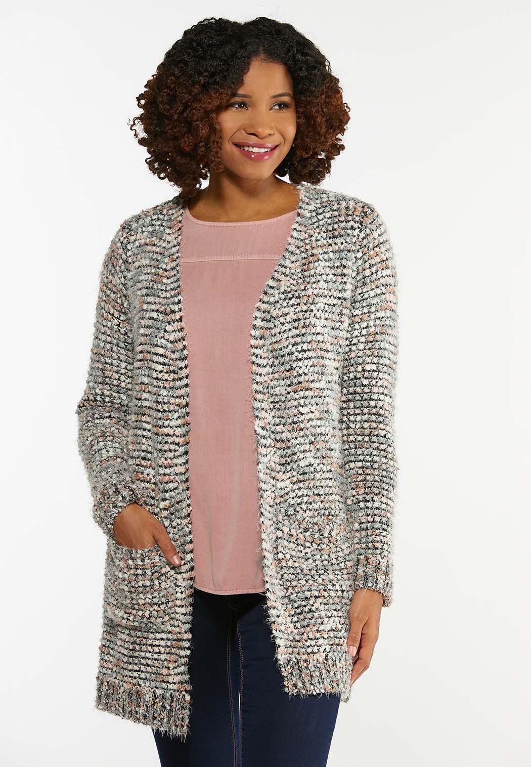 Textured Cardigan Sweater