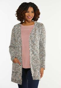 Plus Size Textured Cardigan Sweater