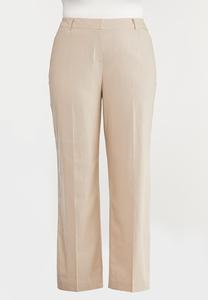 Plus Size Linen Trouser Pants