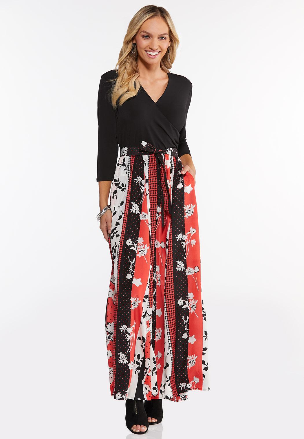 Plus Size Spice Floral Maxi Dress