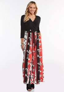 Plus Size Spice Floral Maxi Dress