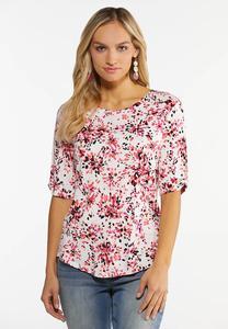 Plus Size Fresh Floral Top