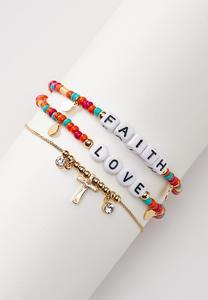 Faith Love Beaded Anklet