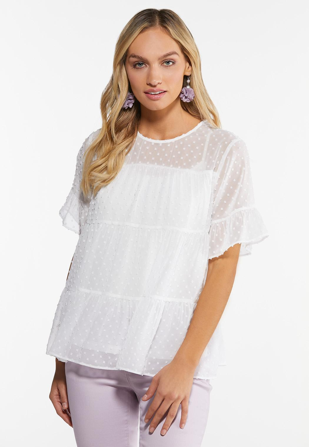 Plus Size Tiered Babydoll Top