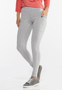 Gray Two Pocket Leggings