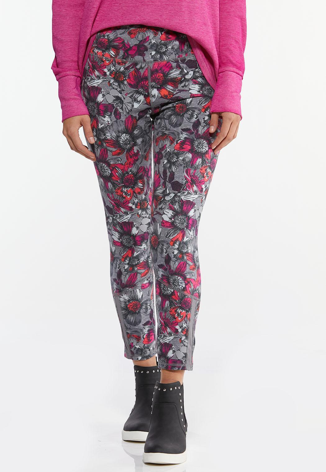 Fuchsia Sketch Floral Leggings