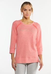 Plus Size French Terry Athleisure Top
