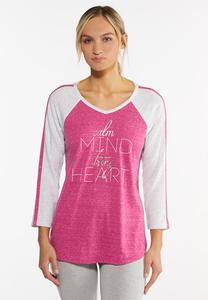 Plus Size Calm Mind Strong Heart Tee