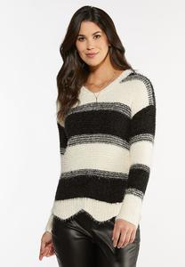 Cozy Black And White Sweater