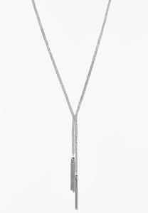Double Chain Tassel Necklace