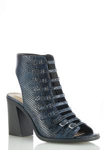 Multi Buckle Snake Vented Booties