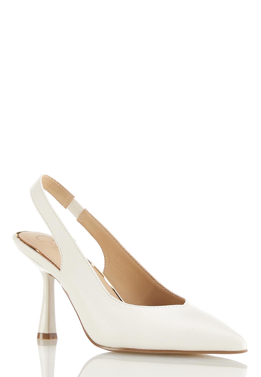 Fashion Heel Ivory Pumps
