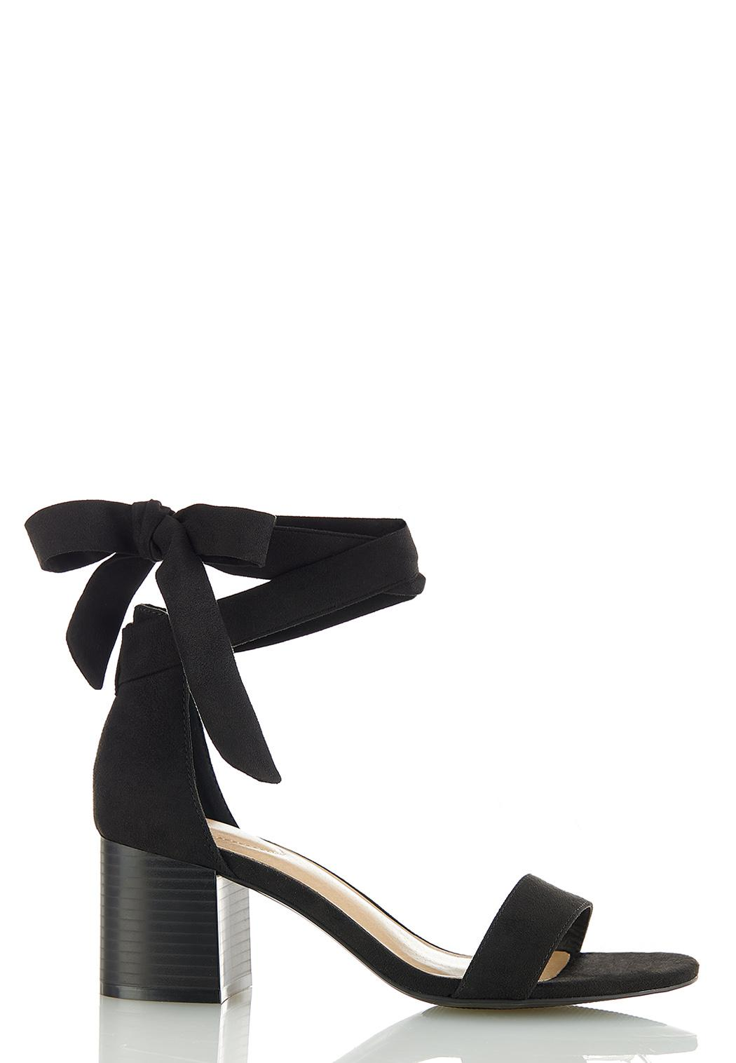 Wide Width One Band Ankle Wrap Sandals