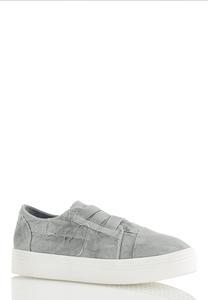 Distressed Platform Sneakers