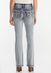 Sparkle Pocket Bootcut Jeans