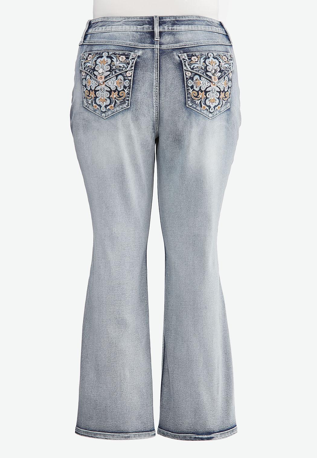 Plus Size Sparkle Pocket Bootcut Jeans