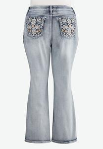 Plus Size Sparkle Pocket Bootcut Jeans