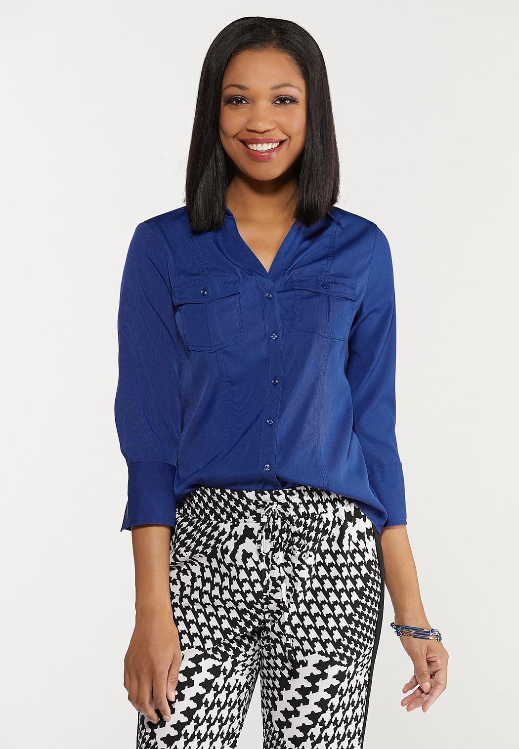 Plus Size Classic Button Down Shirt