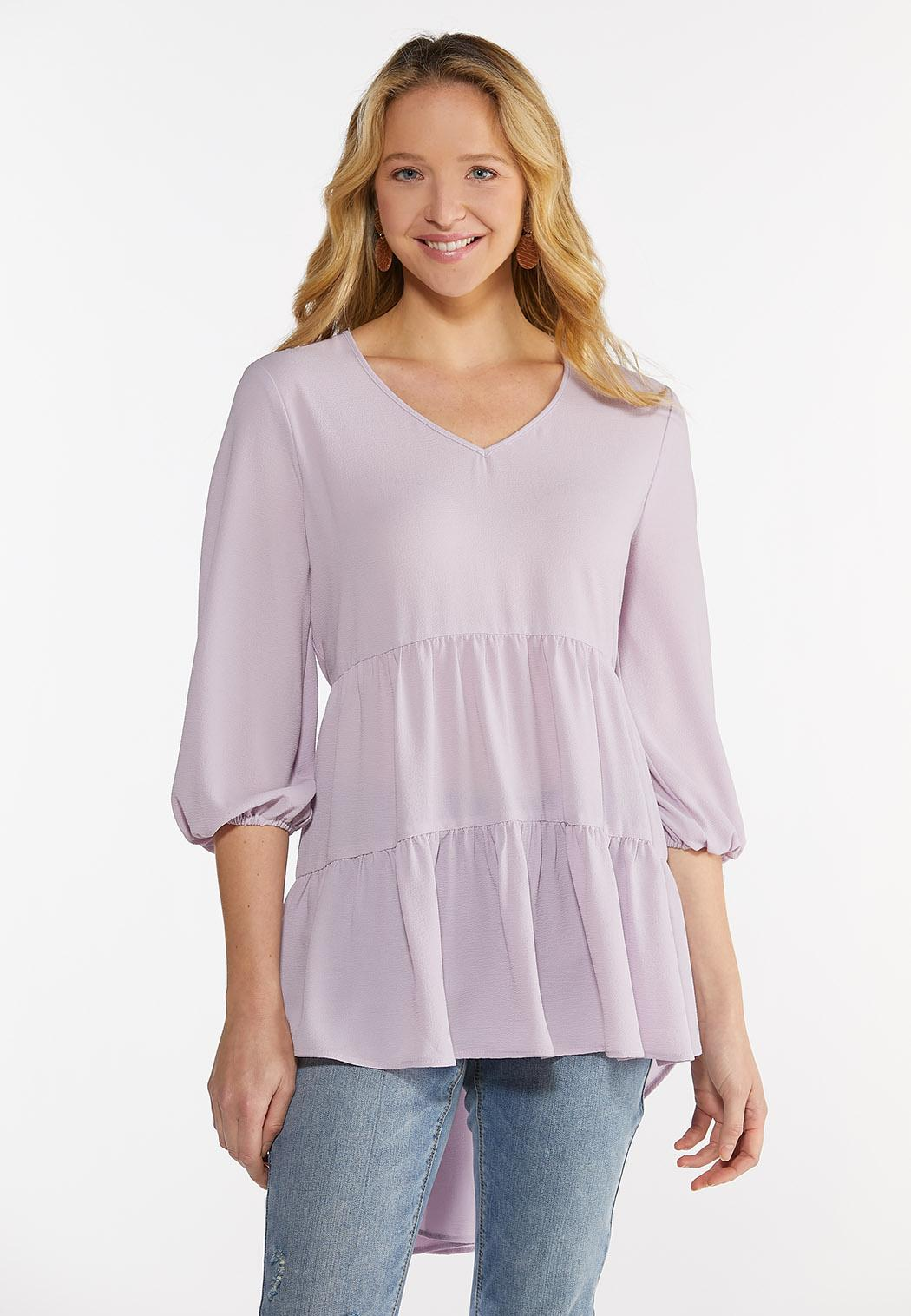 Tiered Crepe Tunic