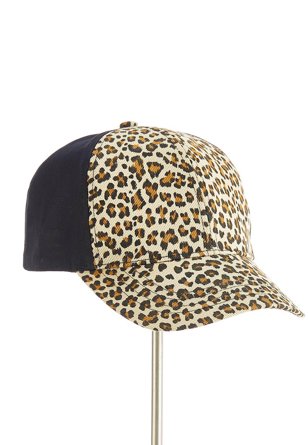 Leopard Panel Baseball Hat